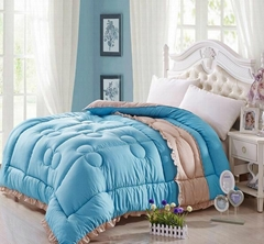 Quilted Winter comforter bedspread bed cover with polyester padding filling