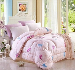 Quilted Butterfly Winter comforter bedspread bed cover polyester padding filling