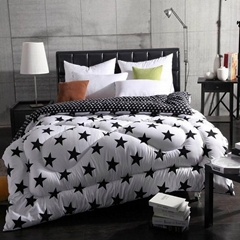 Black-white Quilted comforter bedspread bed cover with polyester padding filling