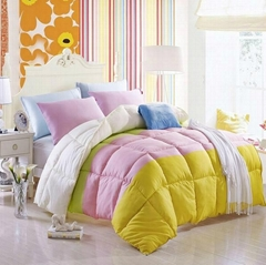 4-color Quilted comforter bedspread bed cover with polyester padding filling