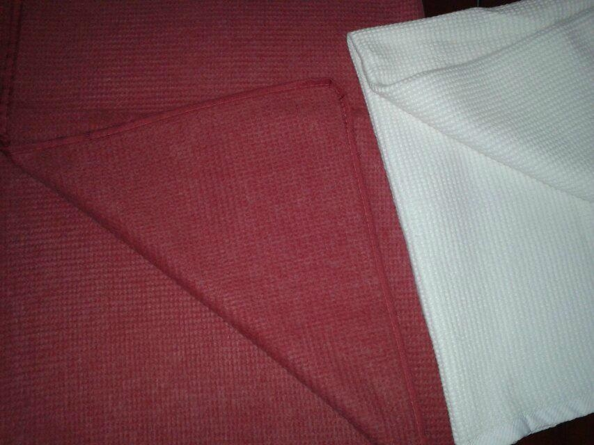 Cotton brushed bedspread blanket throw 1