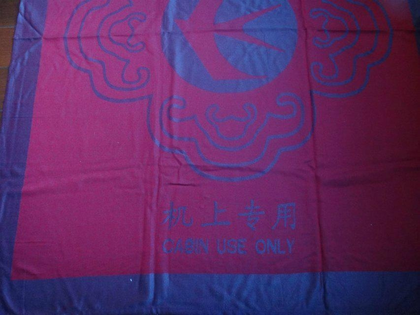 Acrylic fire retardant  Aviation blanket throw 7