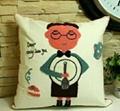 Embr. cotton cushion cover