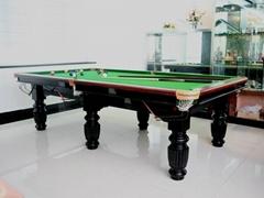 黑八台球桌