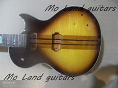 custom shop neck through les paul guitar