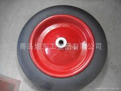 solid rubber wheel , wheelbarrow solid rubber tire