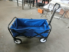 folding wagon cart  beach cart four wheel folding tool cart