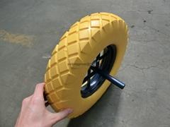 手推车发泡轮子 工具车发泡轮 3.25-8 4.00-8
