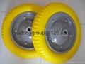 "pu solid rubber wheel 13"" wheelbarrow pu"