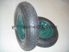 手推车充气轮子 工具车轮子 3