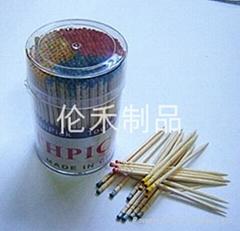 Three-color  toothpick