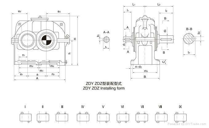 泰隆標ZDY450齒輪減速機 4