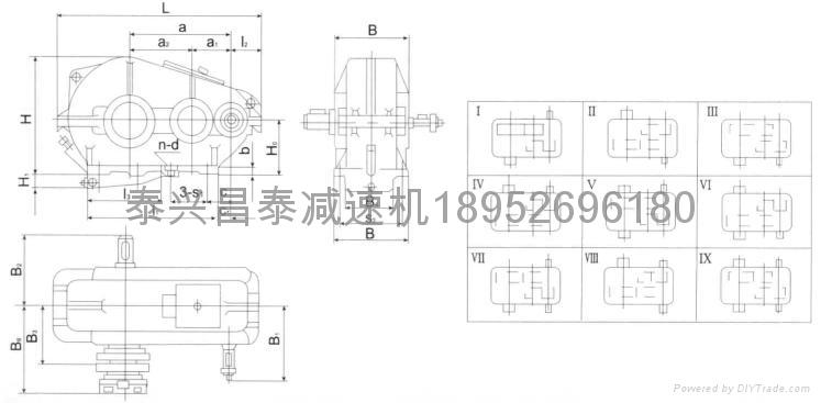 zqa850 Cylindrical gear reducer 2