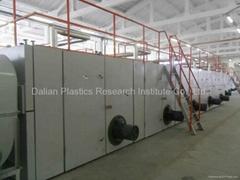 PP/PE塑料土工格柵生產線