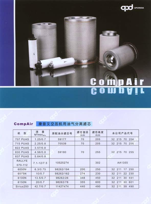 康普艾空压机用油气分离滤芯 1