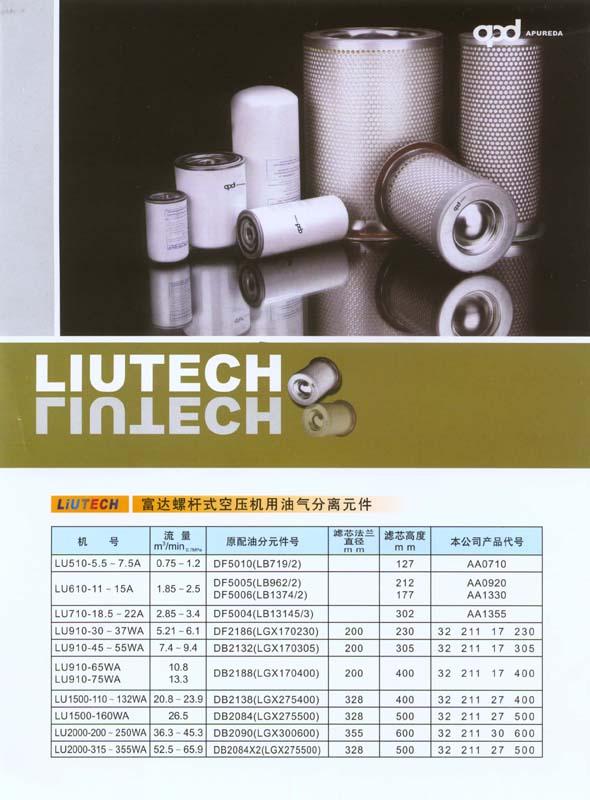 富达螺杆空压机用油气分离滤芯 1