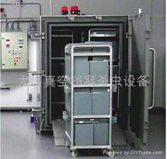 Vacuum nitrogen filling insecticidal sterilizing device