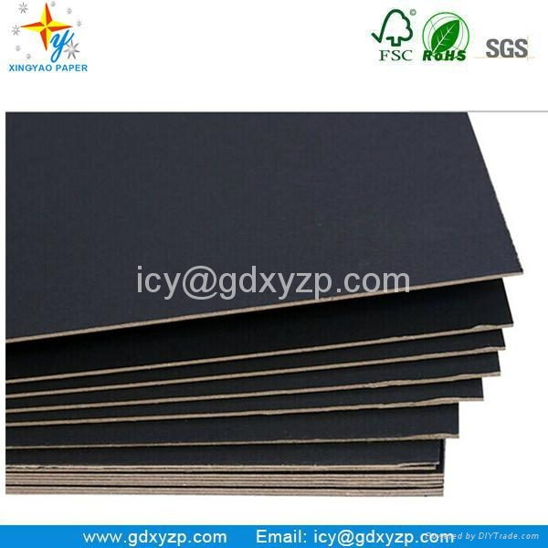 Laminated Black Cardboard Paper Board in Roll or Sheets 3
