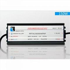 150W LED防水电源 长条形同明纬HLG150尺寸