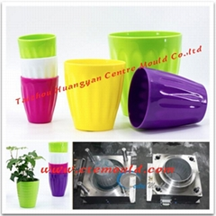 Injection flower pot mou