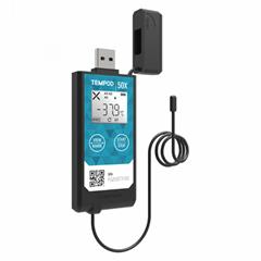 Tempod 50x GSP冷链运输医药货柜智能高精度报警PDF工业温度记录仪