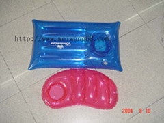 PVC inflatable pillow/flocked  pillow/inflatable pillow