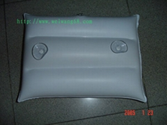 infaltable pillow/pvc flocked pillow /pvc pillow
