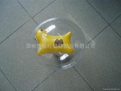 充气球中球