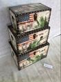 Flag wooden storage box