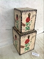 Flower wooden trunk for indoor