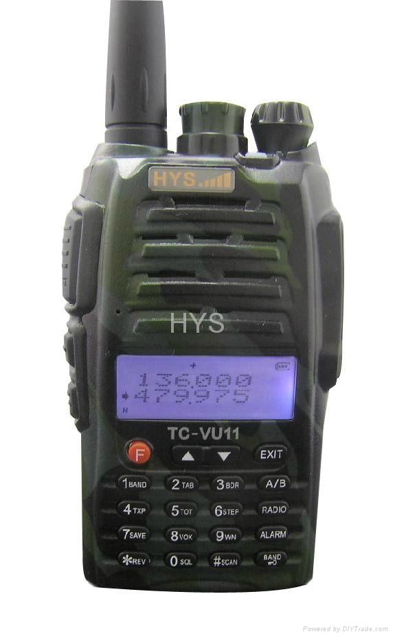 VHF&UHF Dual band  two way radio(camouflage color) TC-VU11CC 1