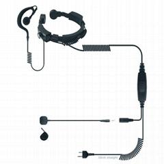 喉控对讲机耳机