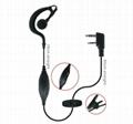 Earhook earphone for two way radio