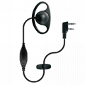 D Shape Earhook Microphone For Two Way RadioTC-306-1 1