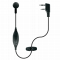 Earbuds microphone for two way radio