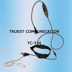 Throat Control Earphone For Two Way Radio TC-334