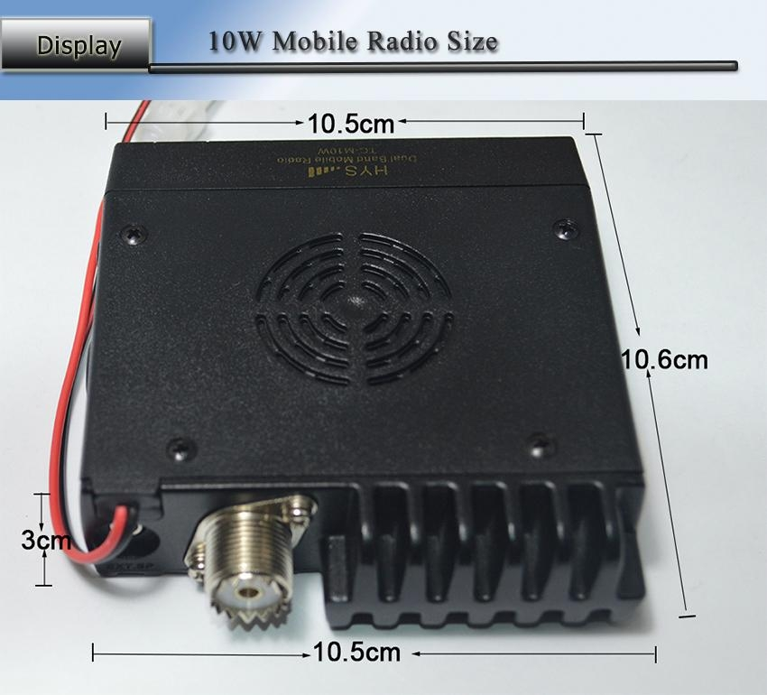 10W Mini VHF& UHF Dual Band Mobile Radio TC-M10W  5