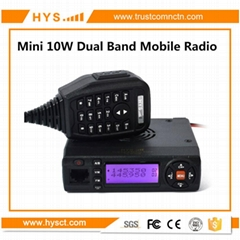 15W Mini VHF& UHF Dual Band Mobile Radio