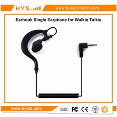 Ear hook single earphone For Two Way Radio TC-617