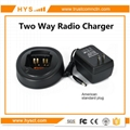 Two way radio charger