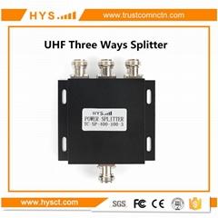 3 way UHF antenna power splitter 400-500MHz  TC-SP-400-100-3