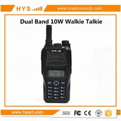Handheld Dual band 10W Walkie Talkie
