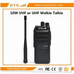 10W大功率专业无线单段 VHF , UHF 对讲机