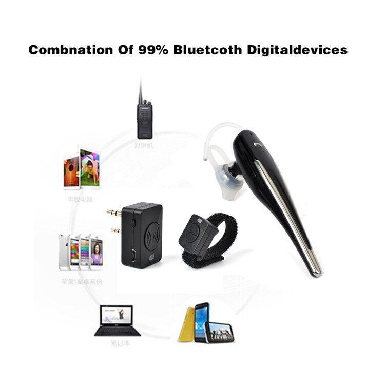 Bluetooth Acoustic Tube Earpiece Headset For Two Way Radio Baofeng Kenwood TK  16