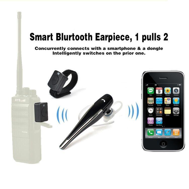 Bluetooth Acoustic Tube Earpiece Headset For Two Way Radio Baofeng Kenwood TK  17