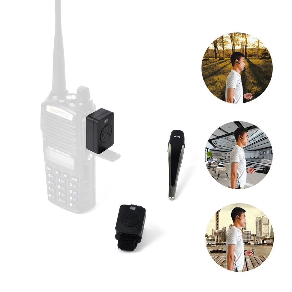 Bluetooth Acoustic Tube Earpiece Headset For Two Way Radio Baofeng Kenwood TK  12
