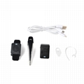 Bluetooth Acoustic Tube Earpiece Headset For Two Way Radio Baofeng Kenwood TK