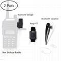 2 Pin Wireless Two Way Radio Earpiece