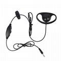 D-Shape Listen/Receive Only 3.5mm Plug