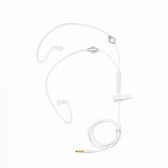 白色透明管耳機PH-05H